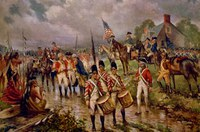 Revolutionary War with troops