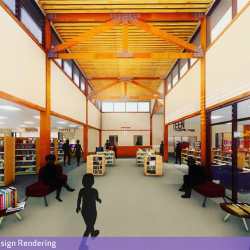 Frances Banta Waggoner Community Library Concept Image - Internal Main View