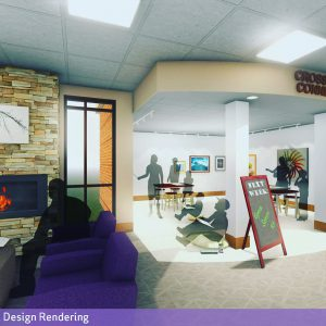 Frances Banta Waggoner Community Library Concept Image - Children's Area View