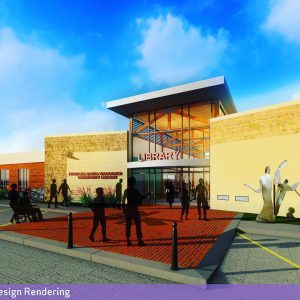 Frances Banta Waggoner Community Library Concept Image - External View