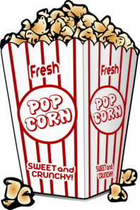 Graphic of popcorn for movie days