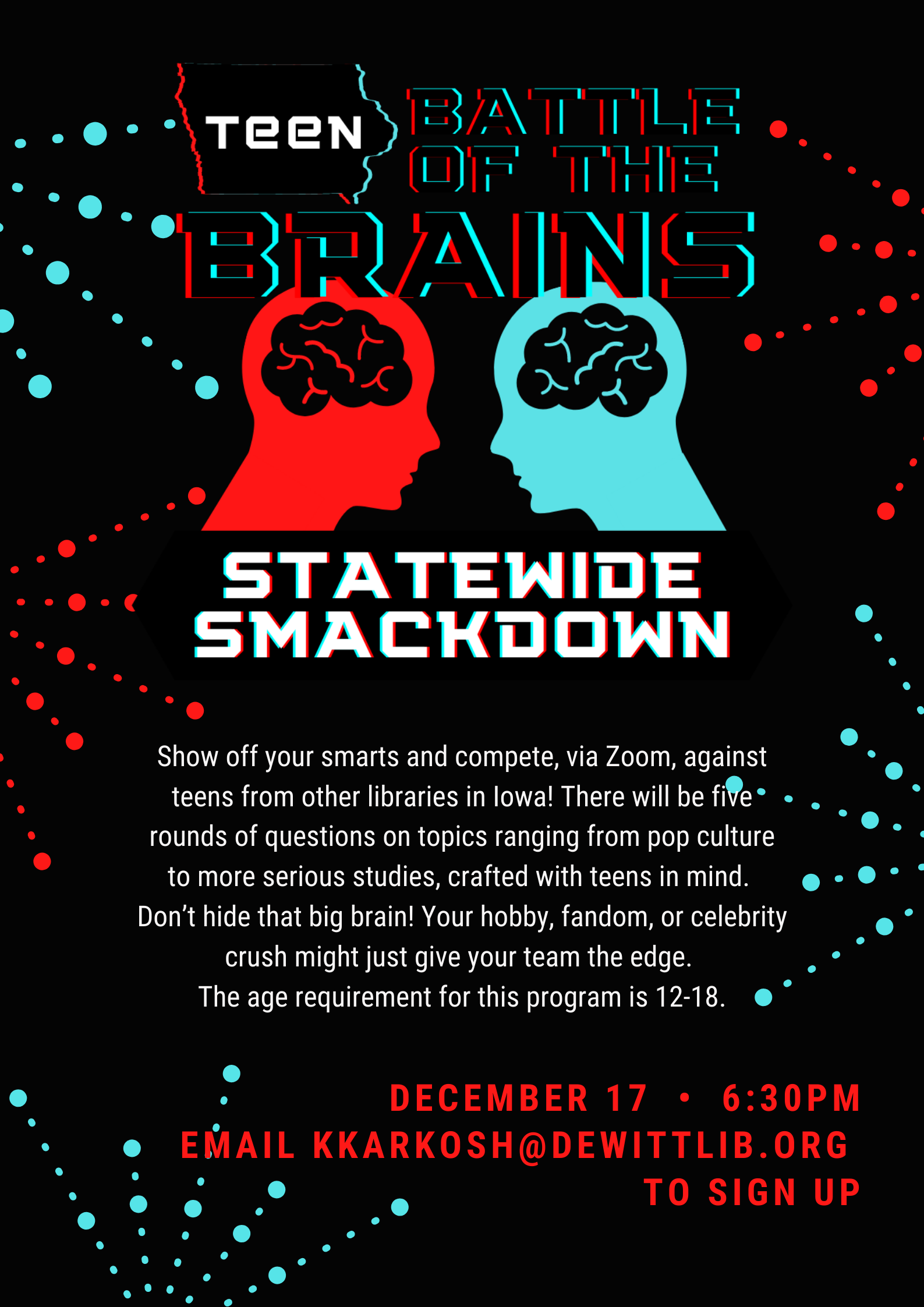 Teen Battle Of The Brains Statewide Trivia Smackdown @ Zoom