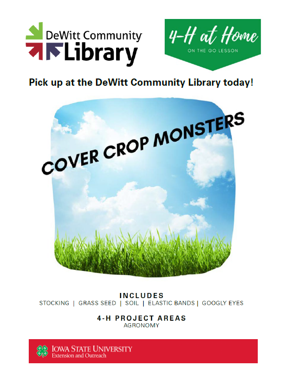 Cover Crop Monsters Kit available @ DeWitt Library @ DeWitt Community Library